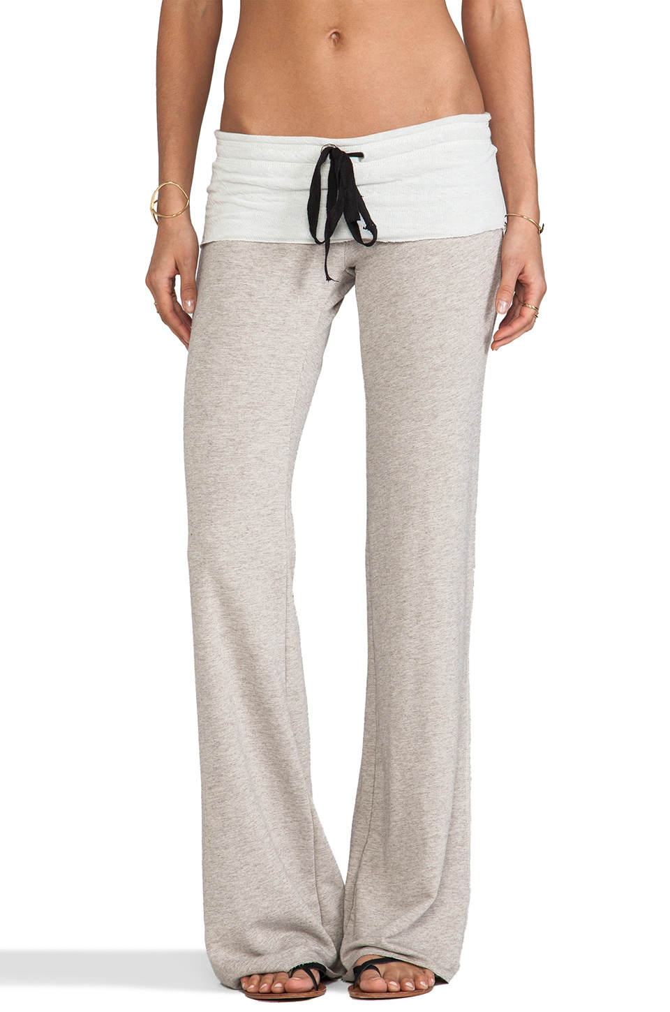 Tylie Wide Leg French Terry Sweatpant in Oat
