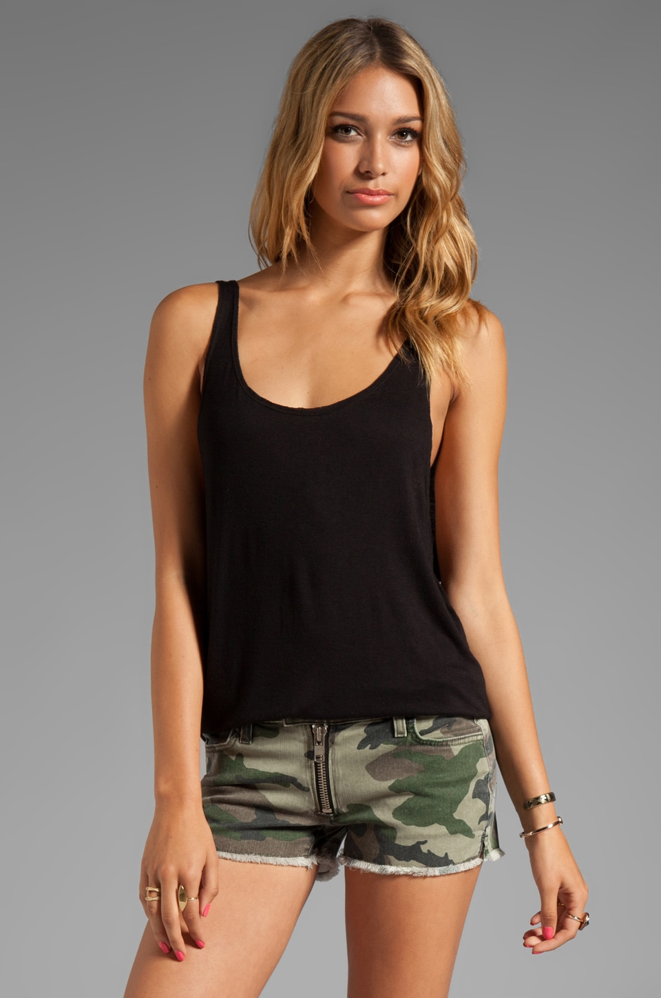 Tylie Lowside Tank in Black