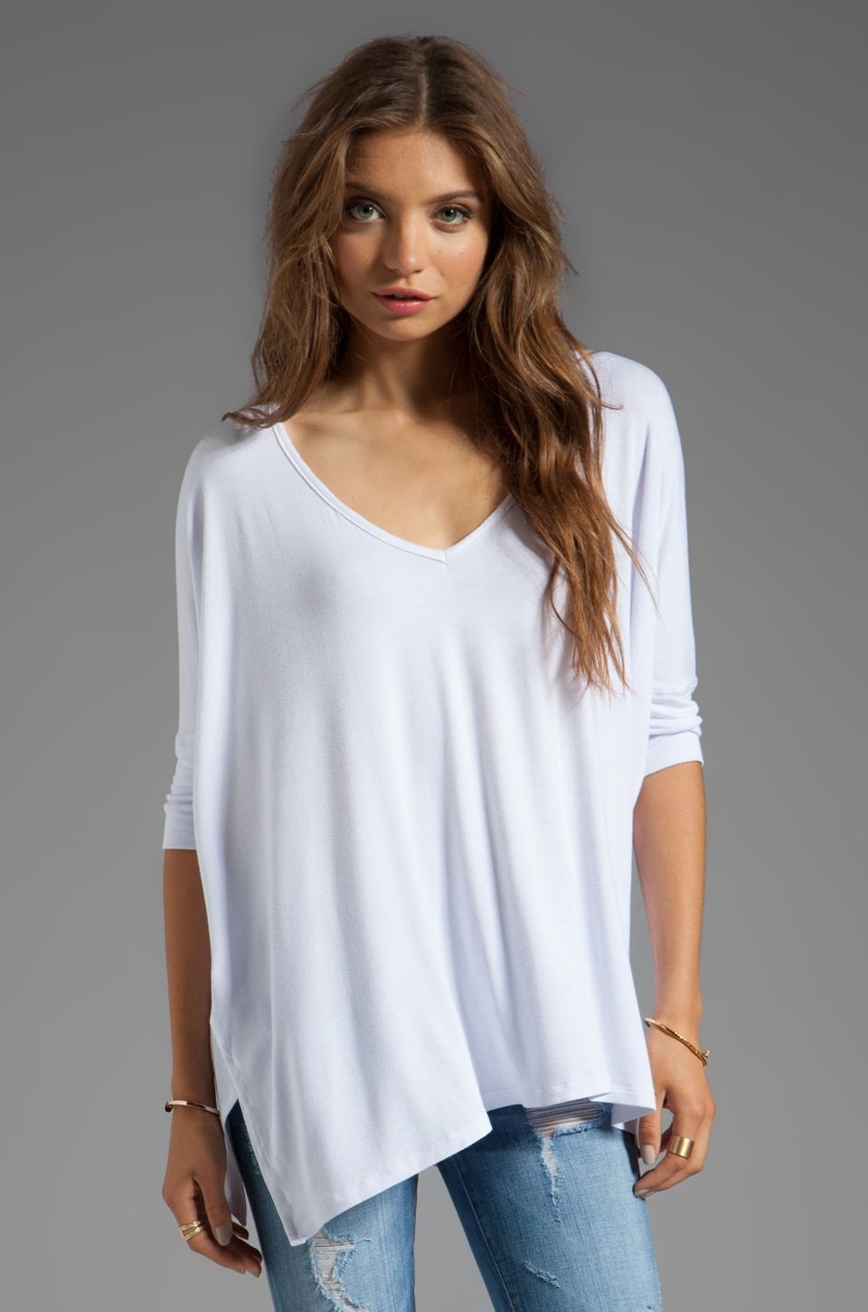 Tylie Batwing Top in White