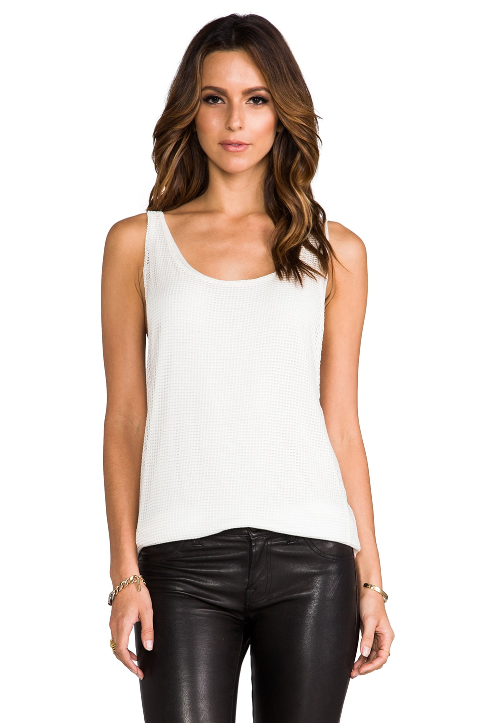 Tylie Mesh Tank in White
