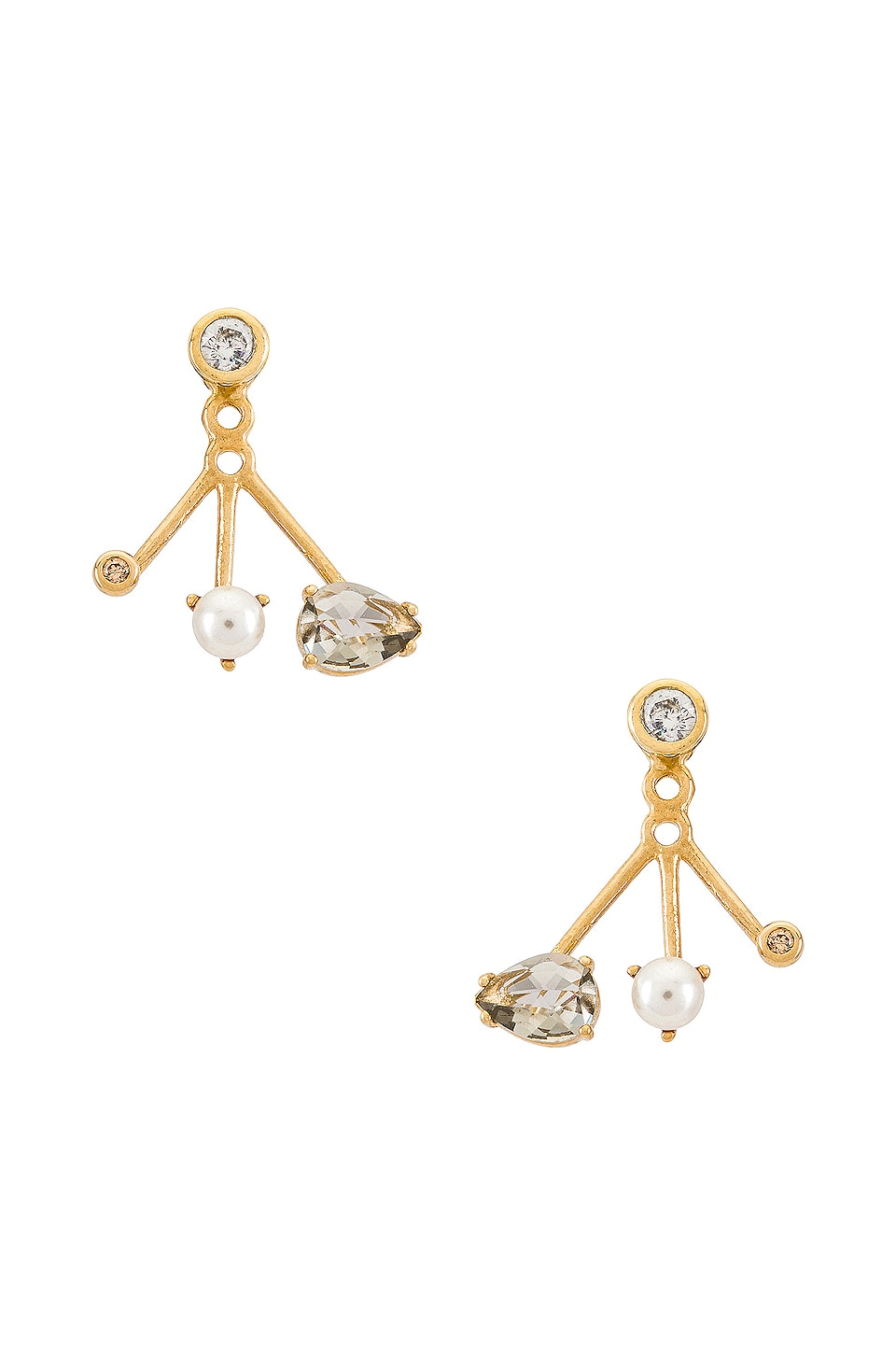 TAI Jewelry Jacket Earring in Gold & Opal Yellow