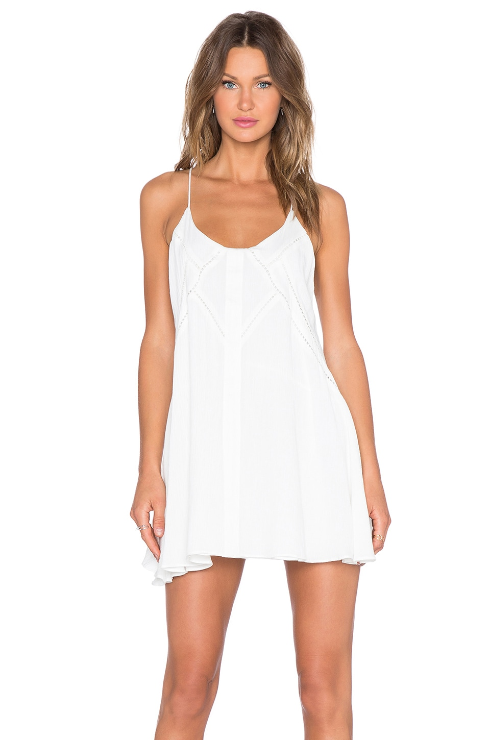 tiger Mist Follow Me Embroidered Dress in White
