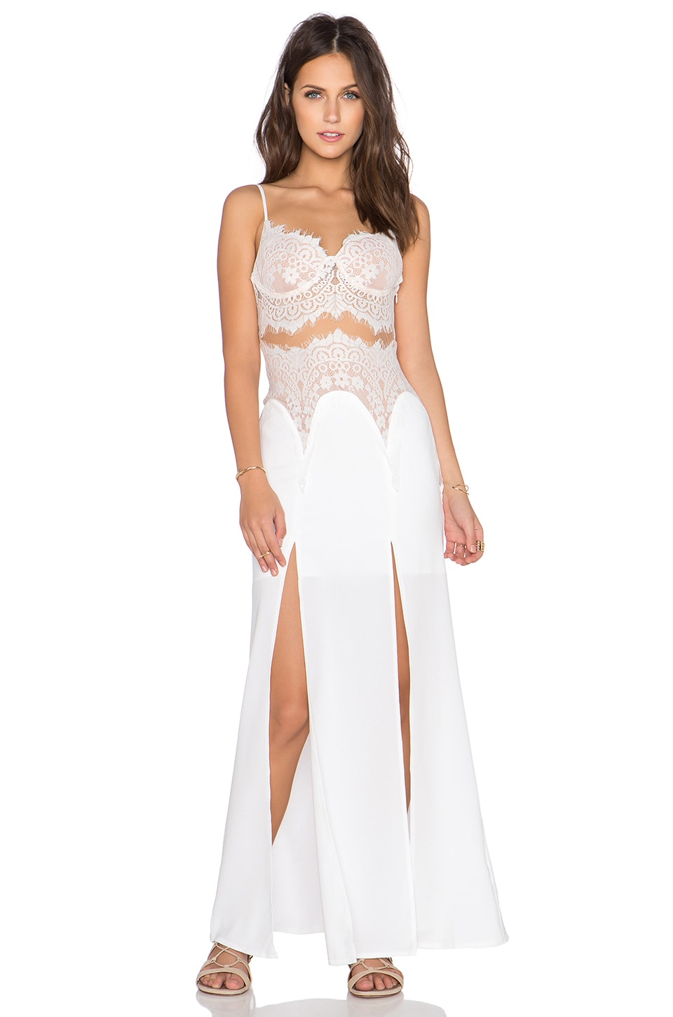 tiger Mist First Class Laxi Maxi Dress in White