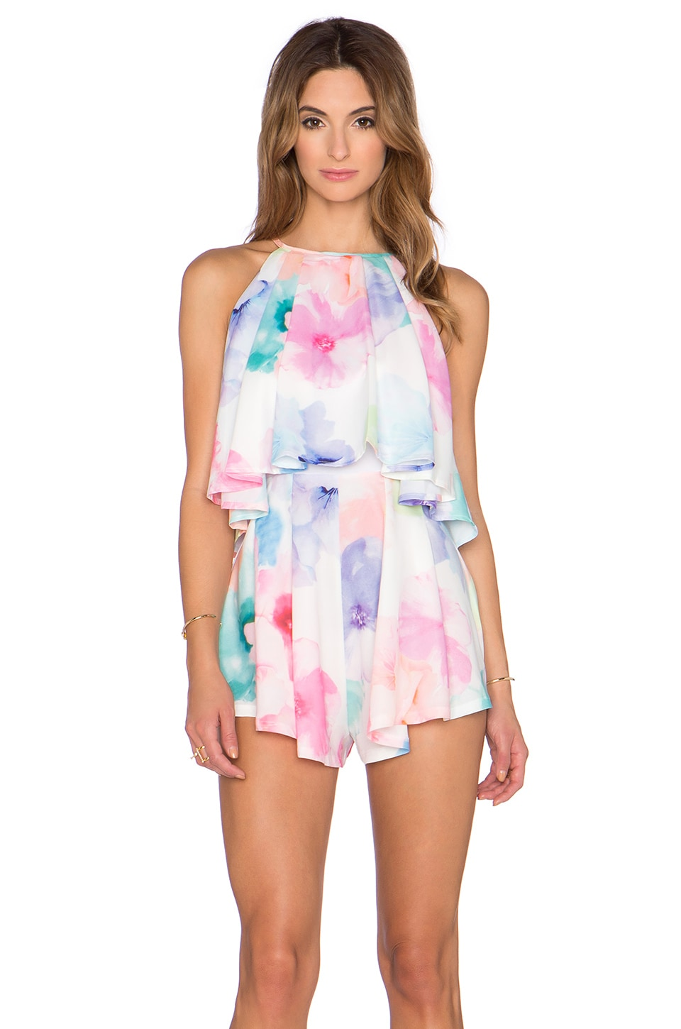 tiger Mist Sweetheart Playsuit in Pastel