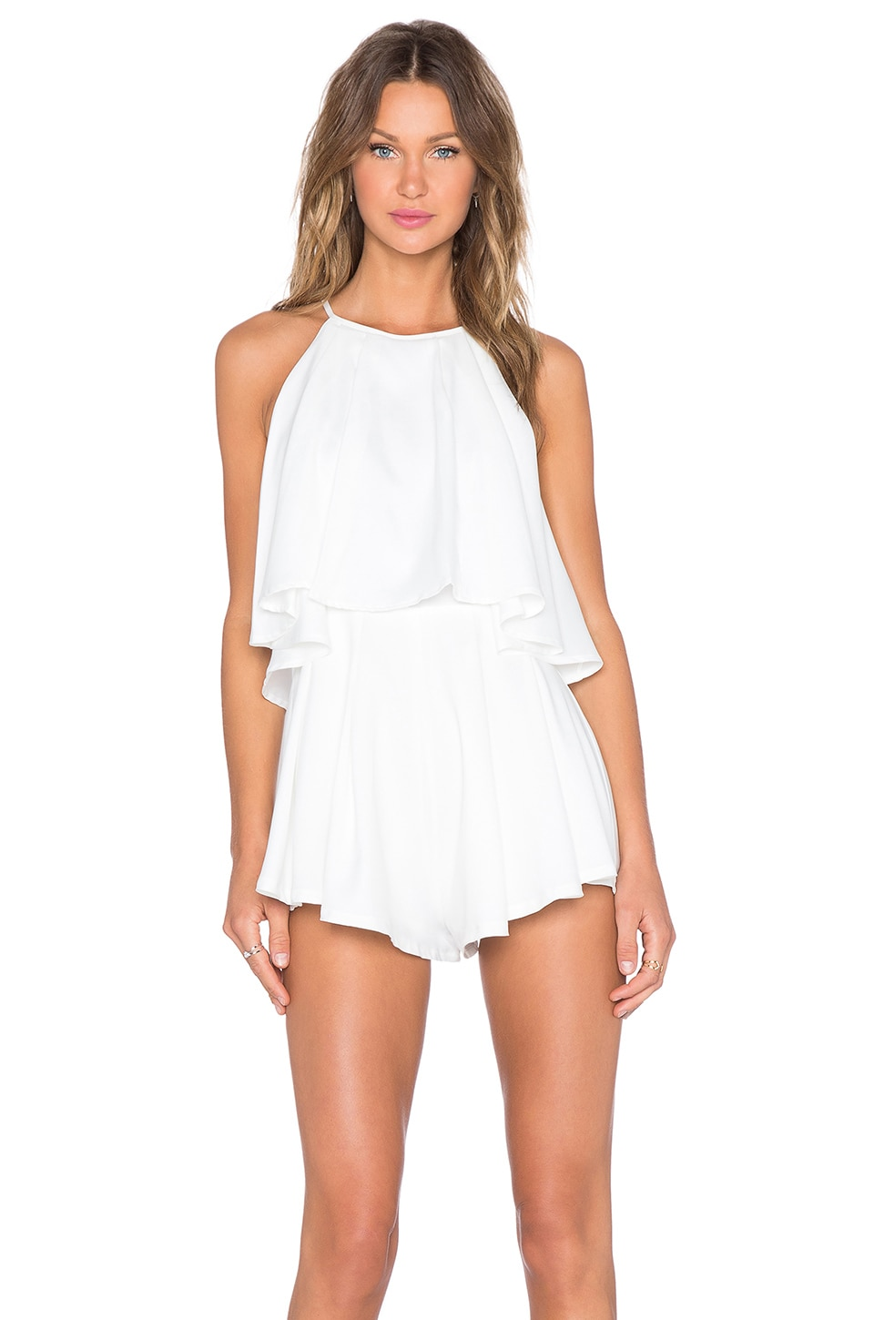 ce5eadf1c8e tiger Mist Sweetheart Playsuit in White