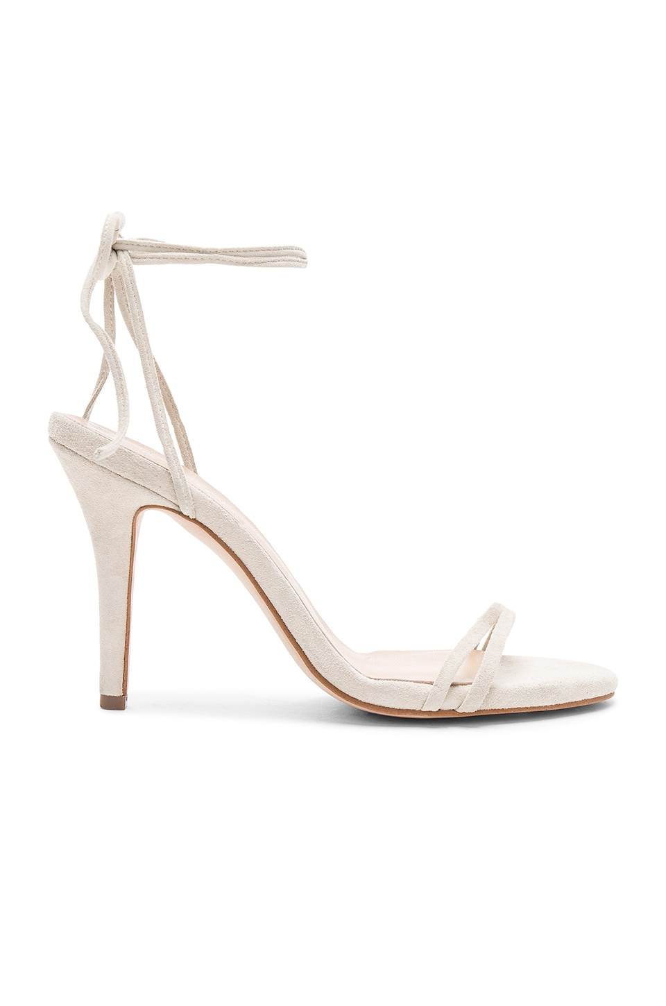 The Mode Collective Barely There Sandal in Nude Suede