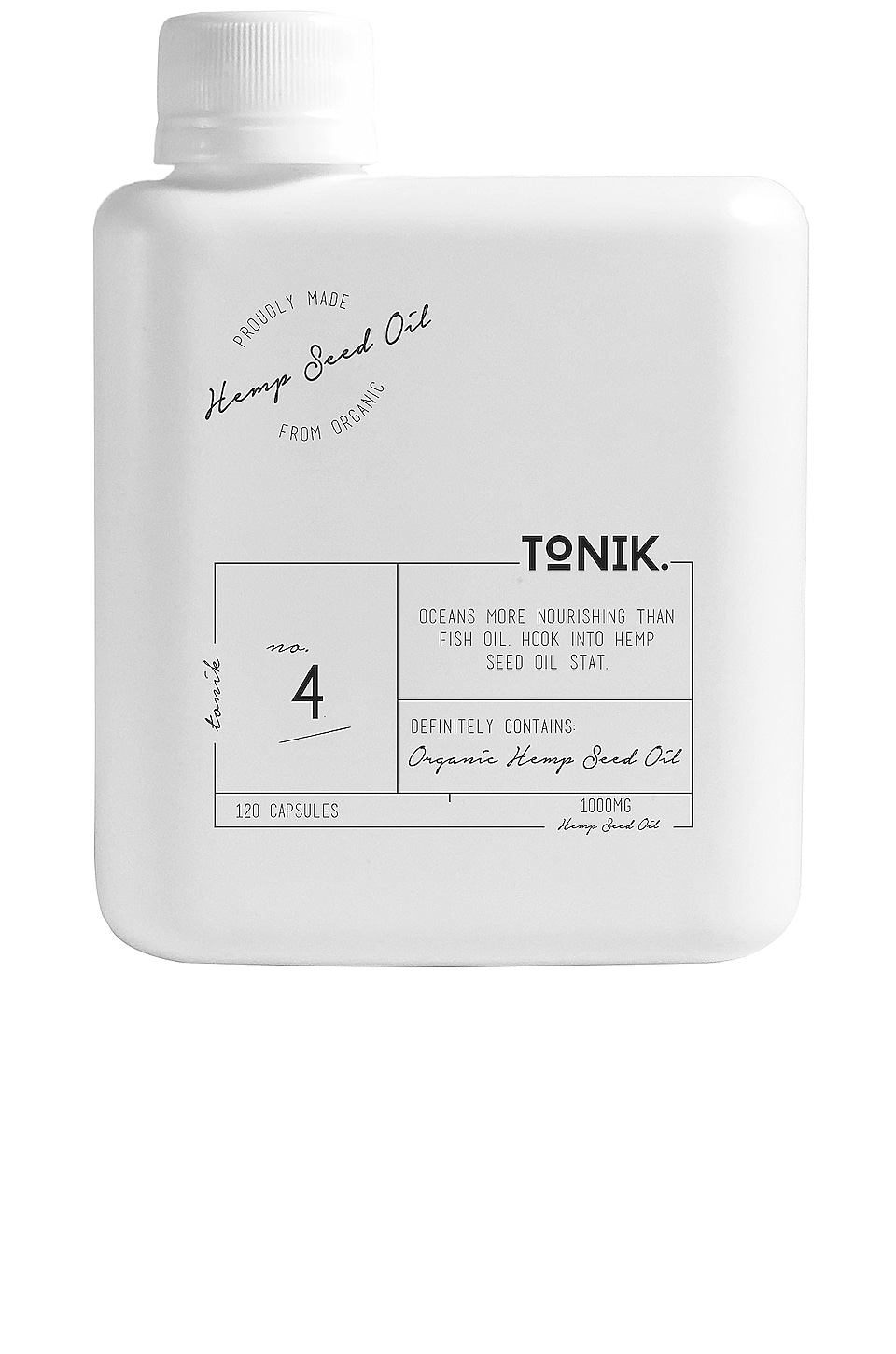 TONIK No.4 Organic Hemp Seed Oil Capsules