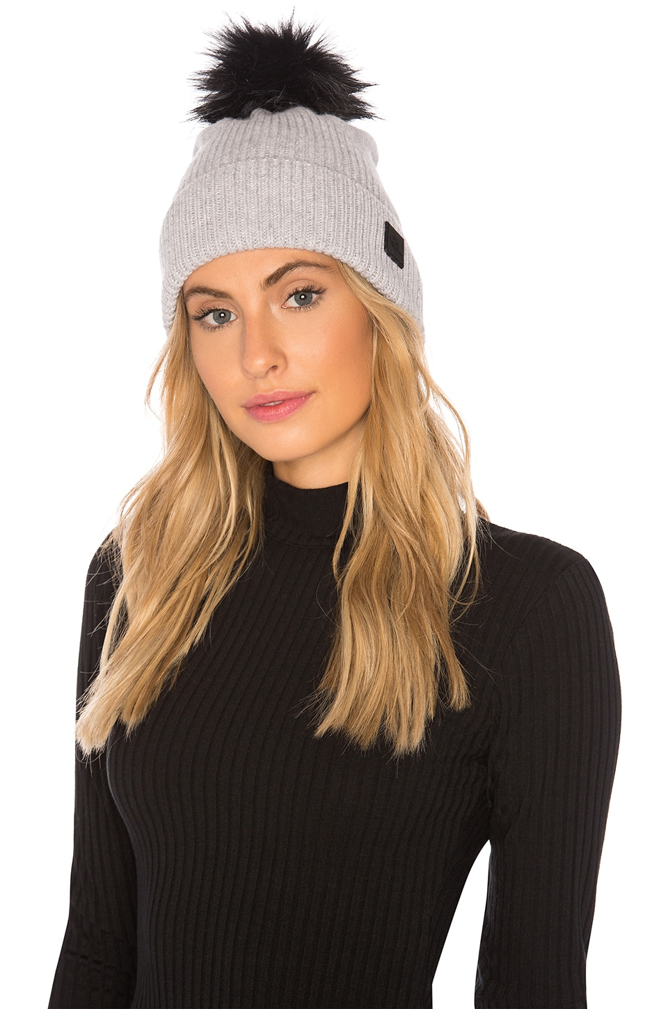 e9c11d374 The North Face Cryos Cashmere Pom Beanie in TNF Light Grey Heather ...