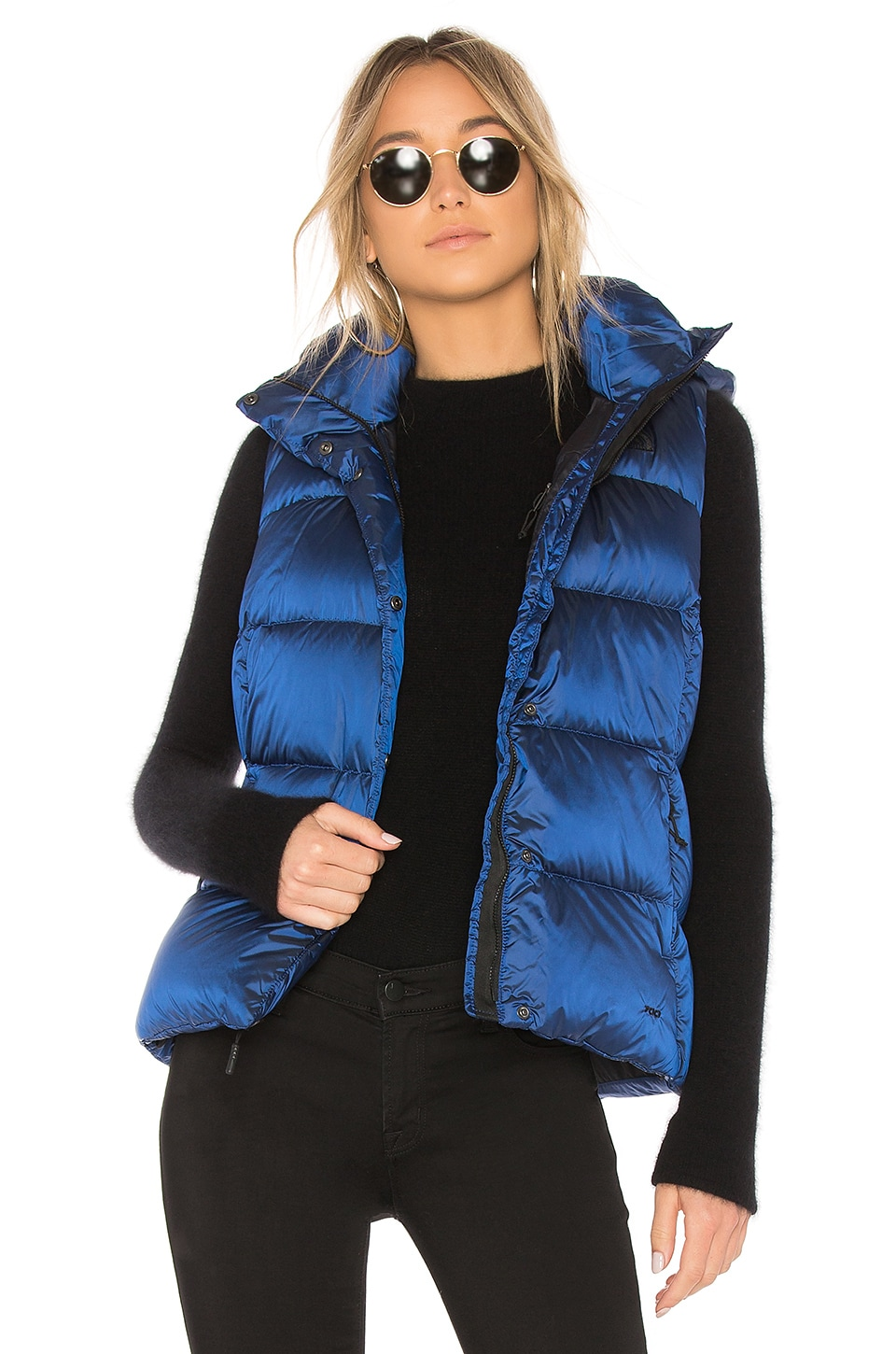 04d37d1fc The North Face Novelty Nuptse Vest in Brit Blue | REVOLVE