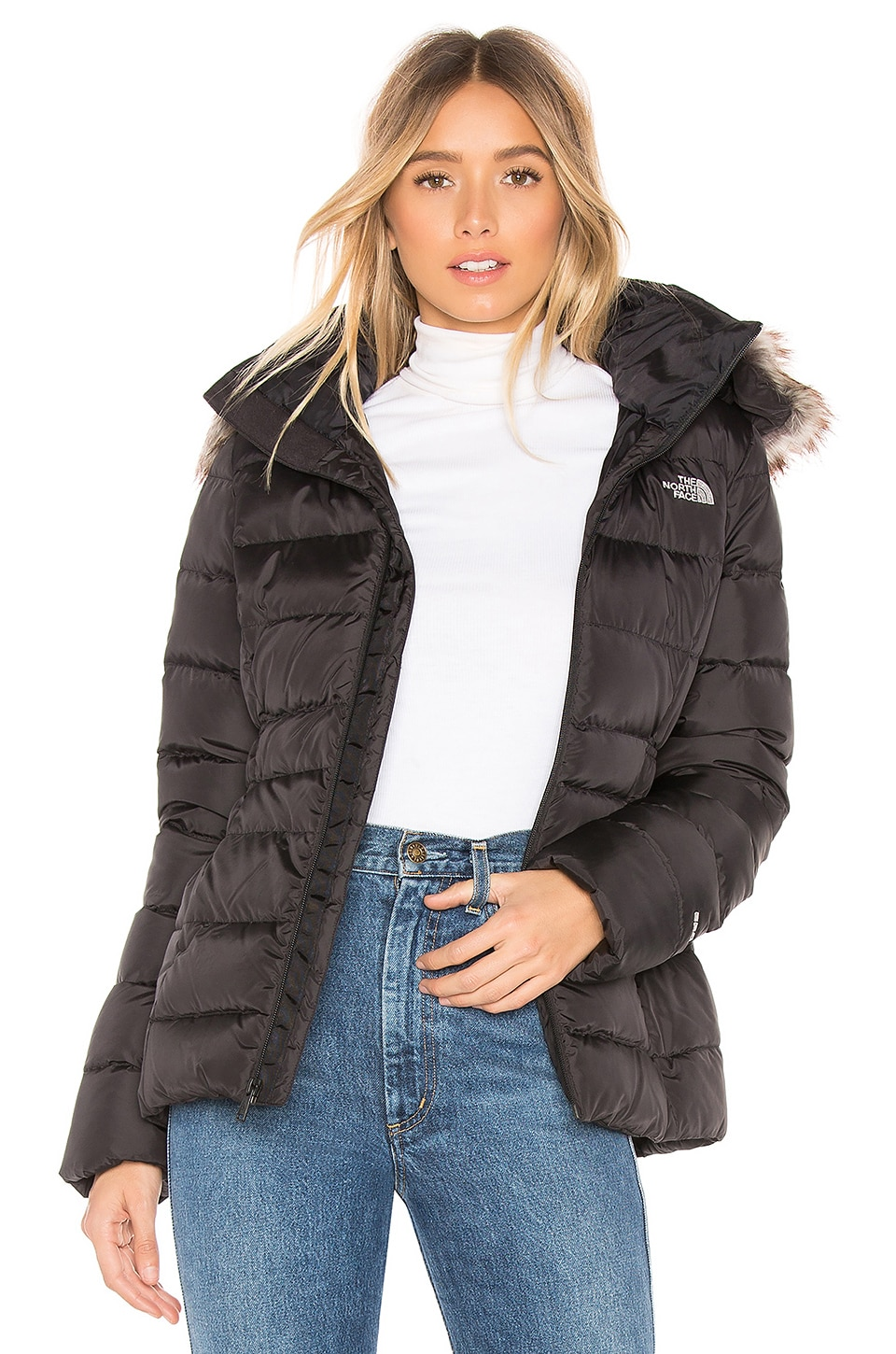 ac1f31e47 The North Face Gotham Jacket II With Faux Fur Trim in TNF Black ...