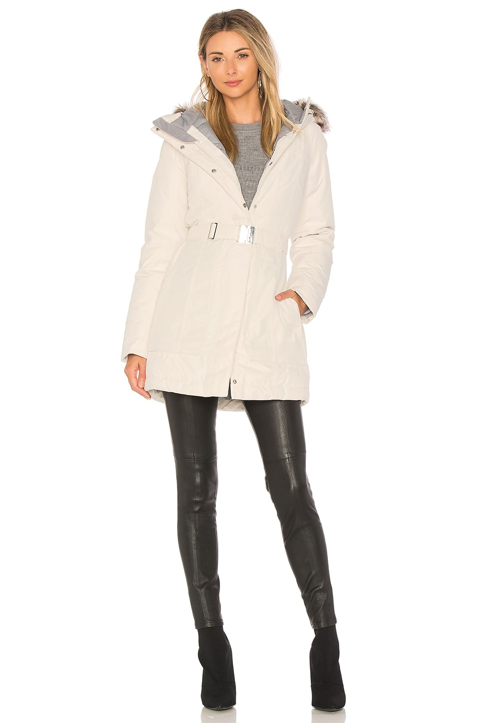 c7b74831a The North Face Faux Fur Brooklyn Parka II in Vintage White | REVOLVE