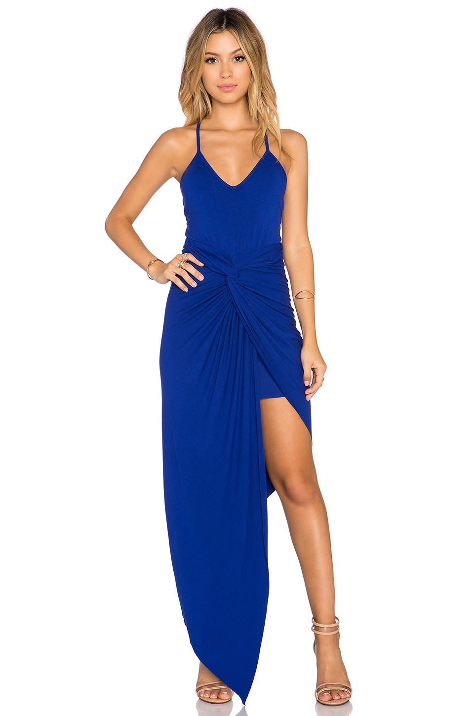 Toby Heart Ginger x REVOLVE Knots Maxi Dress in Cobalt