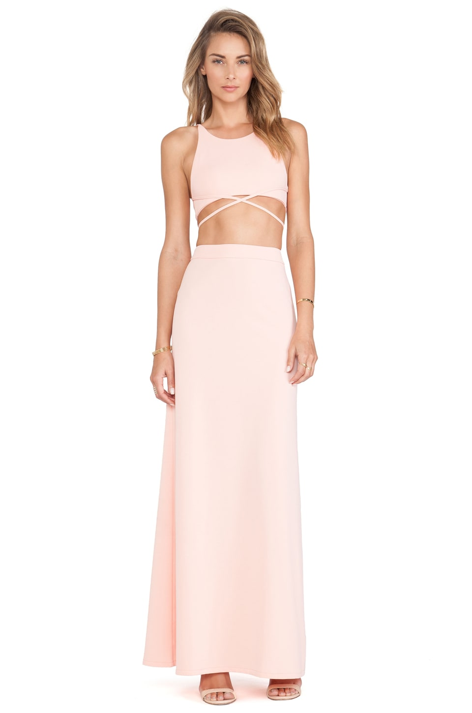 Toby Heart Ginger x Love Indie Newport Maxi Dress in Peach