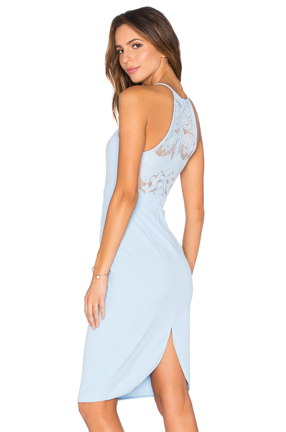 Toby Heart Ginger Sophia Lace Midi Dress in Cornflower Blue