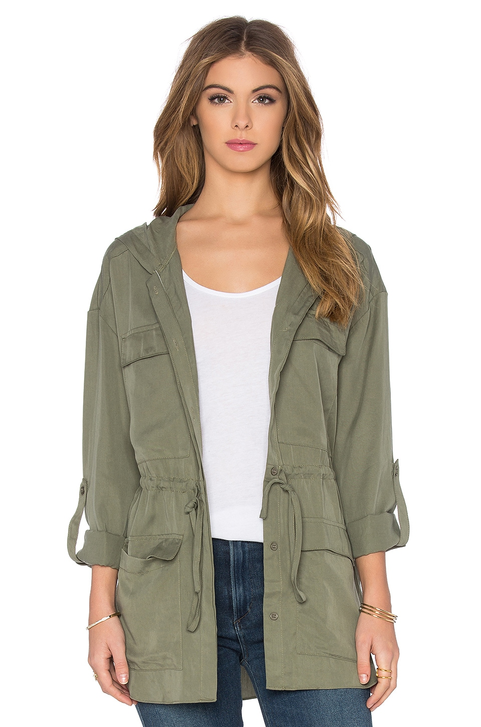 Toby Heart Ginger Hooded Anorak Jacket in Khaki