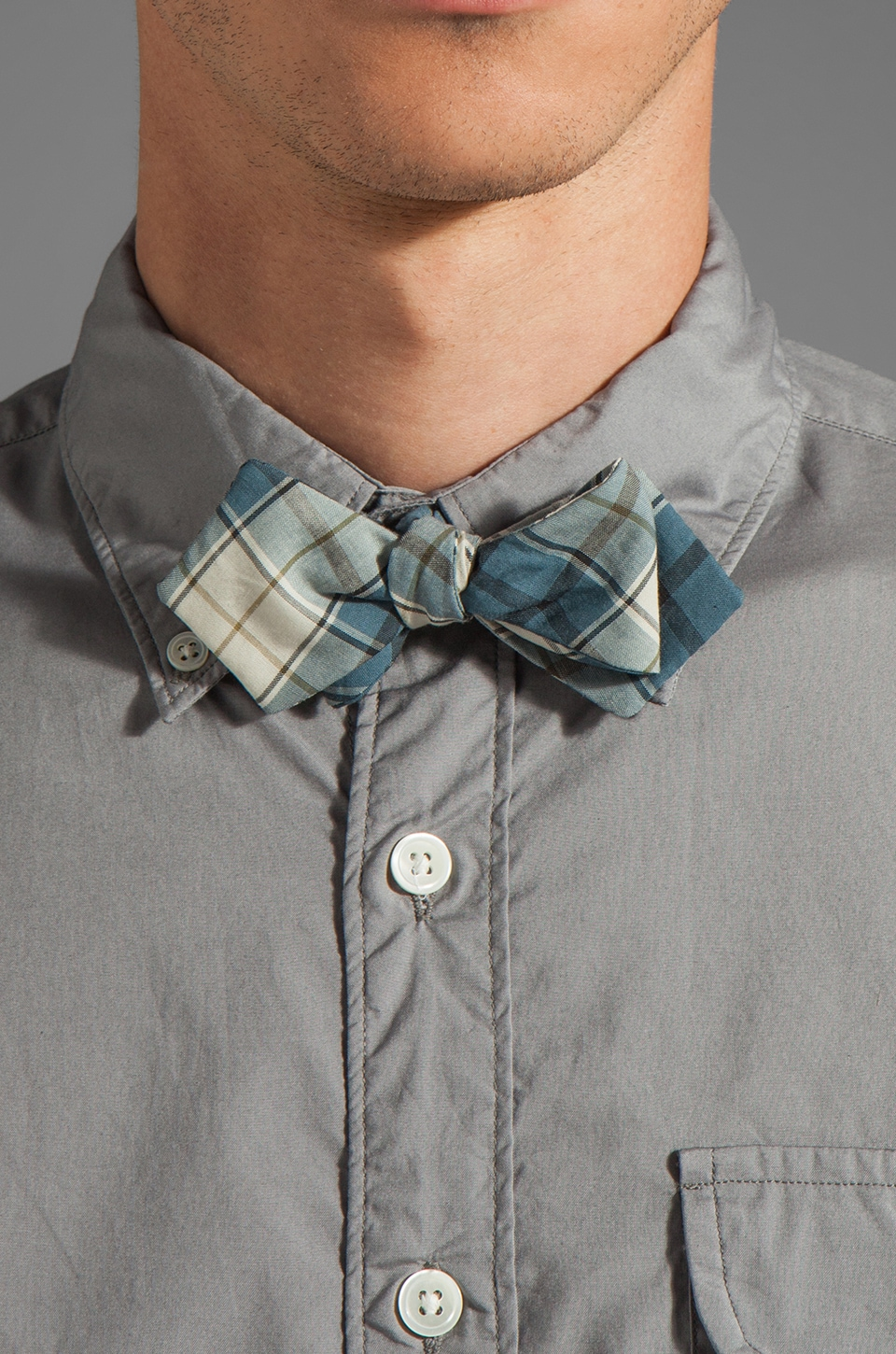 TODD SNYDER Bow Tie Plaid #20 in Blue