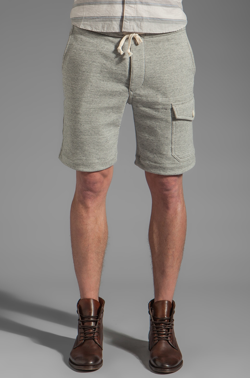 TODD SNYDER Knit Short in Grey Heather