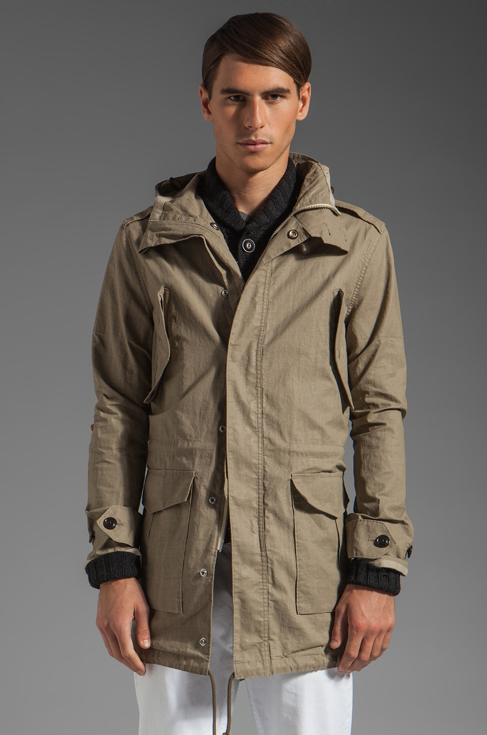 TODD SNYDER Flight Parka in Beige