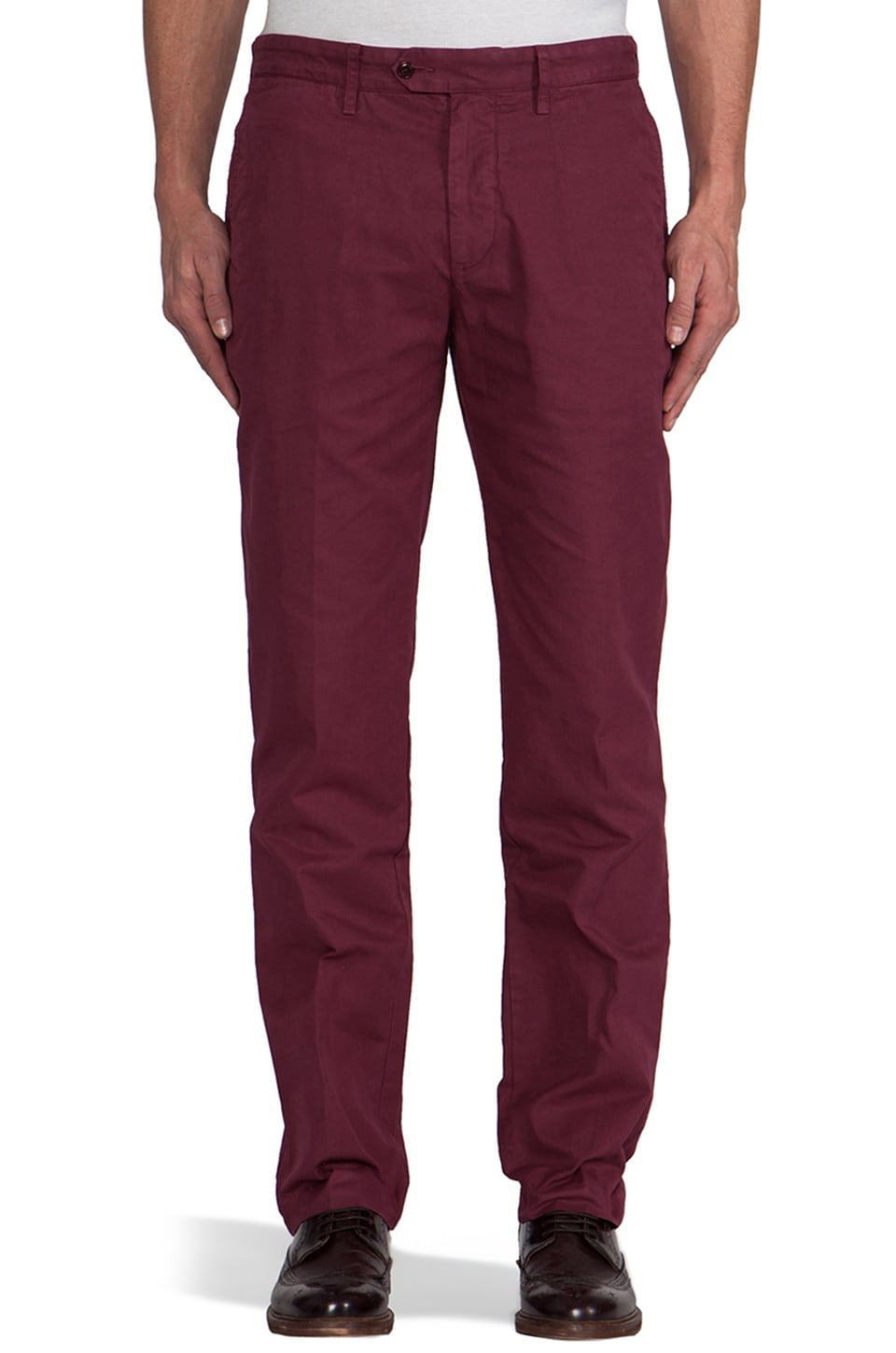 TODD SNYDER Trouser Chino in Maroon