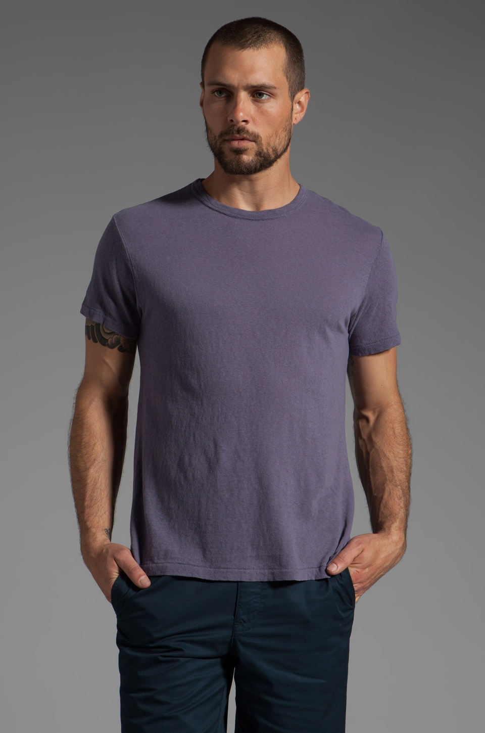 TODD SNYDER Classic T in Blueberry