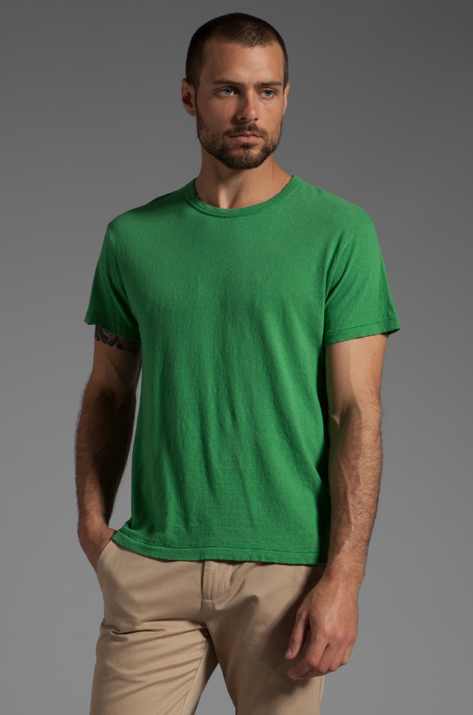 TODD SNYDER Classic T in Kelly Green