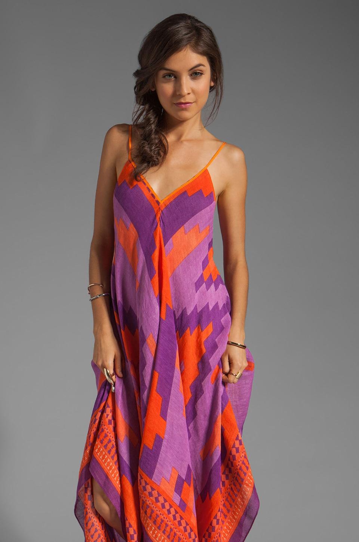 Theodora & Callum Andes Scarf Dress in Violet Multi
