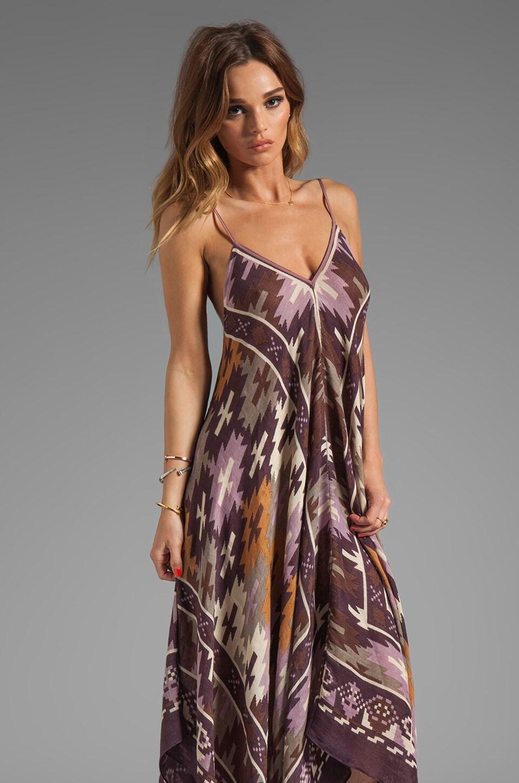 Theodora & Callum Tikal Scarf Dress in Brown Multi