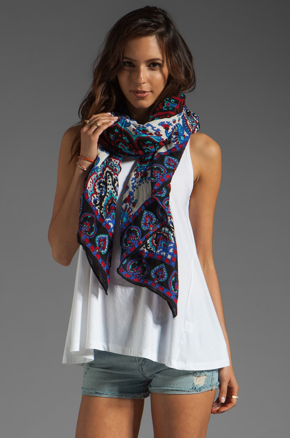Theodora & Callum Casablanca Scarf in Black Multi