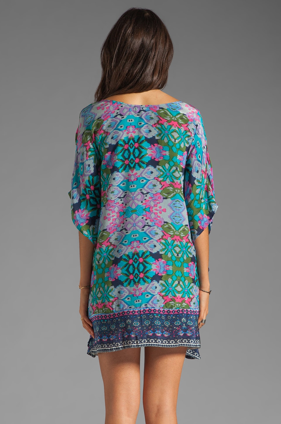 Tolani Emily Dress in Purple Ikat