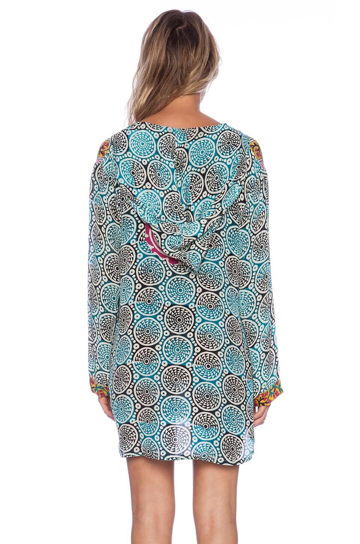 Tolani Katrina Hoodie Dress in Cylinders