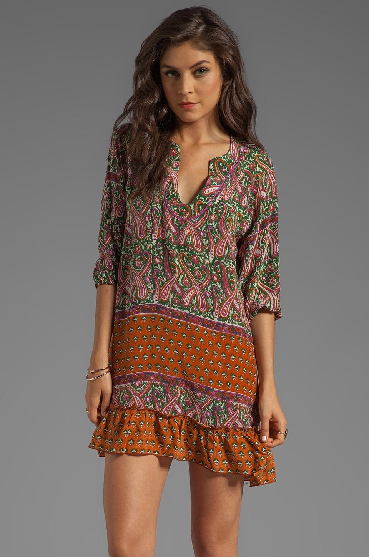 Tolani Ginger Dress in Olive Pink