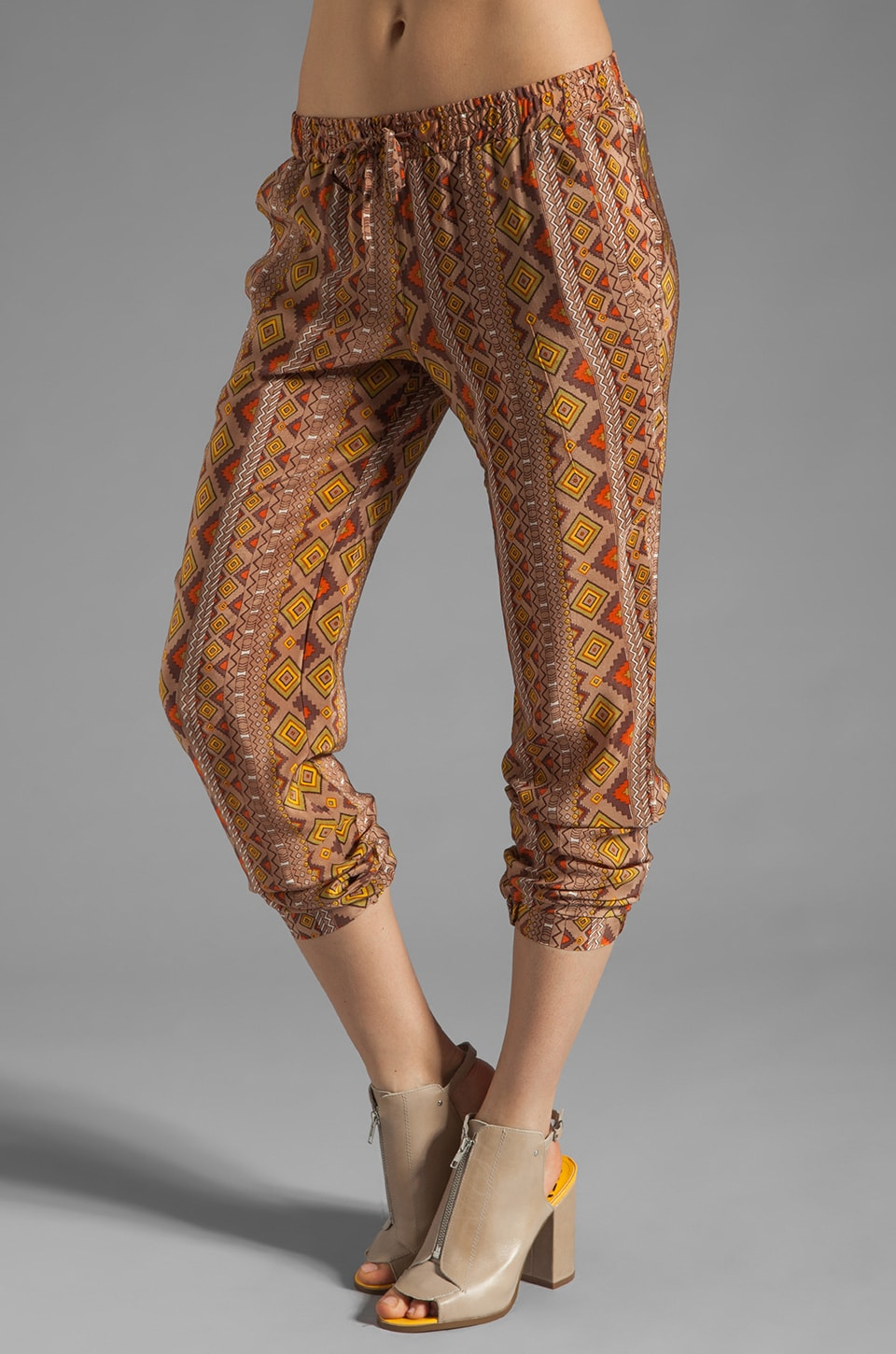 Tolani Lauren Skinny Pant in Brown Ikat