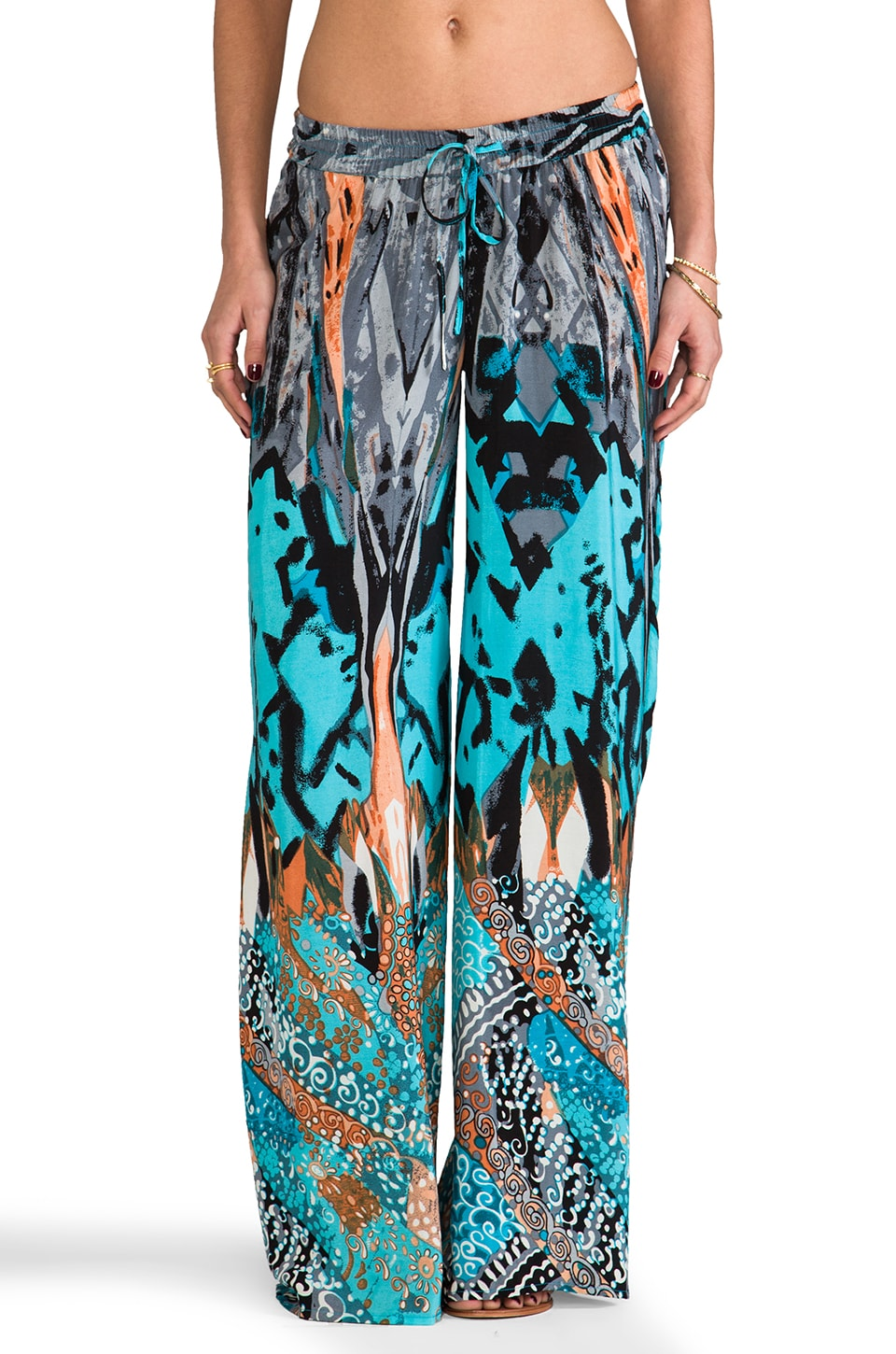 Tolani Aria Wide Leg Pants in Aqua
