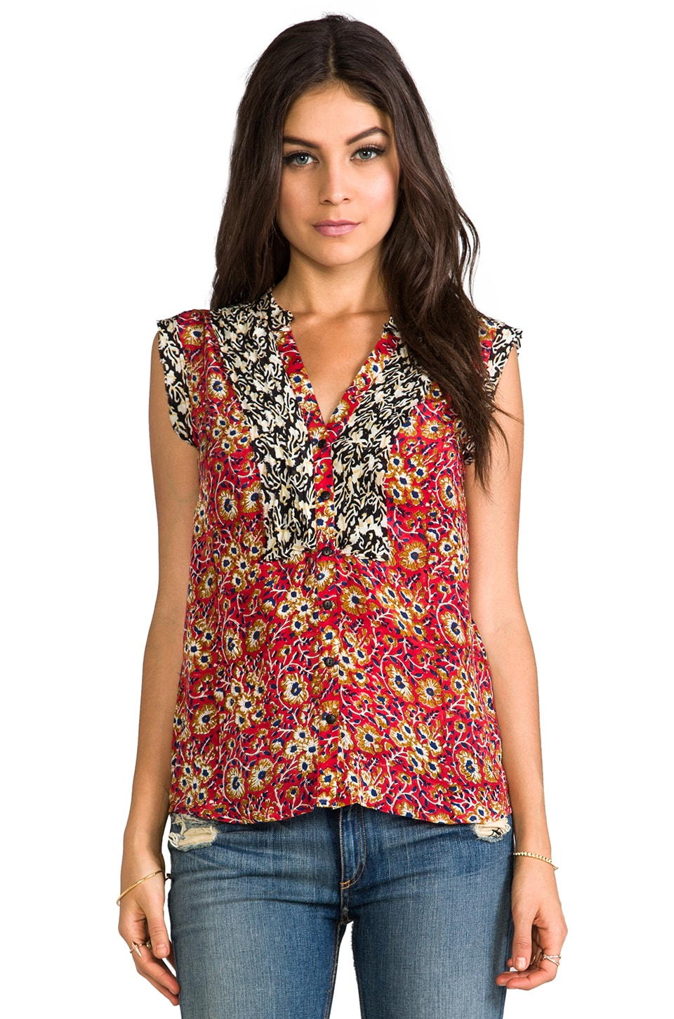 Tolani Jillian Tank in Red Floral