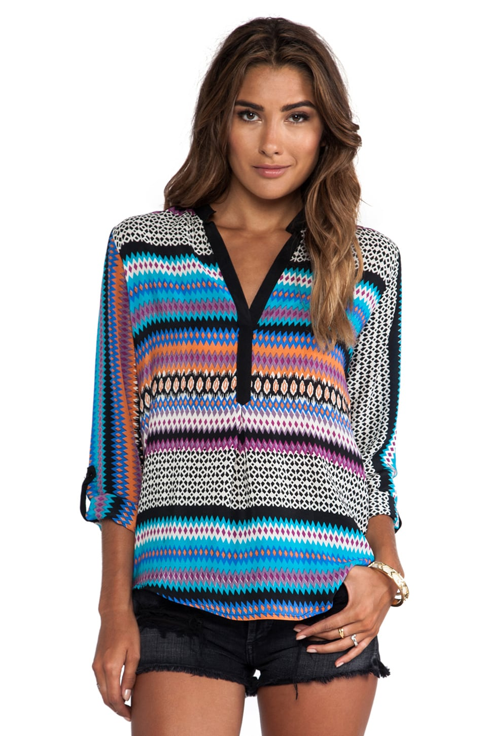 Tolani Tenille Blouse in Stripes