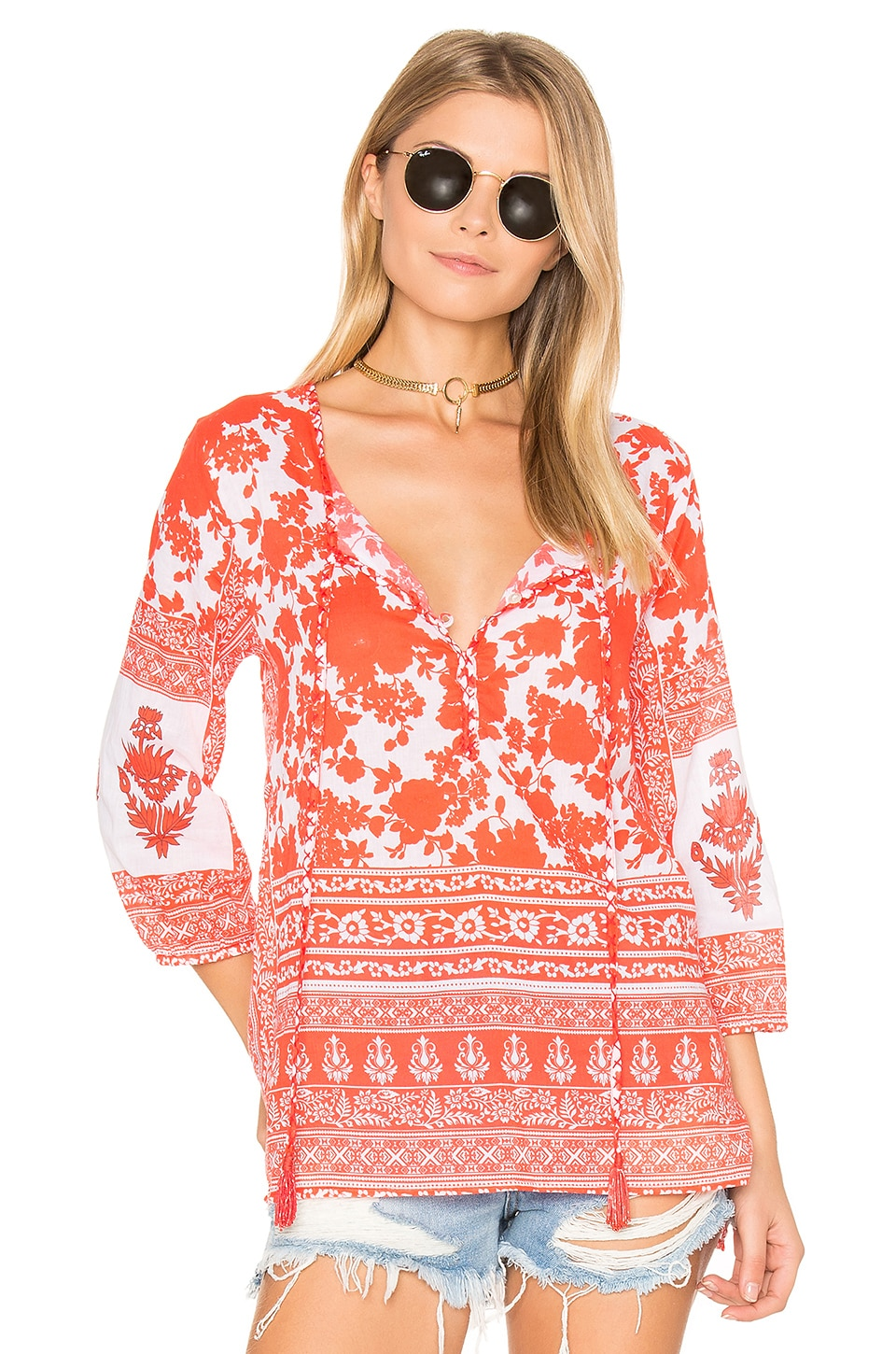 Tolani Sienna Top in Poppy