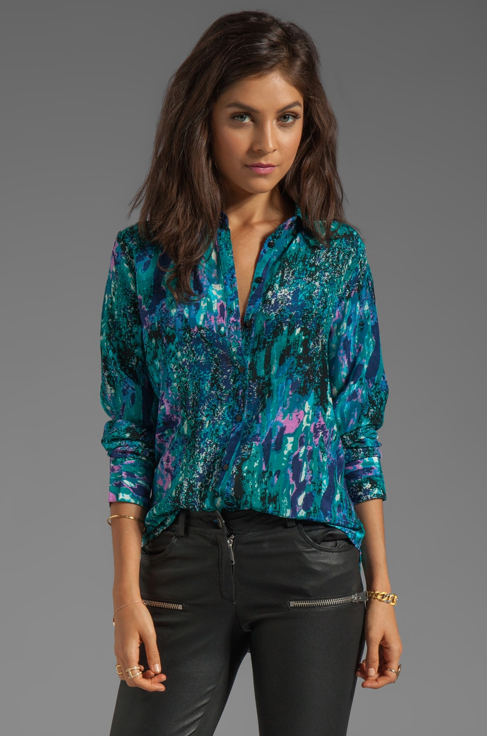 Tolani Valerie Top in Turquoise