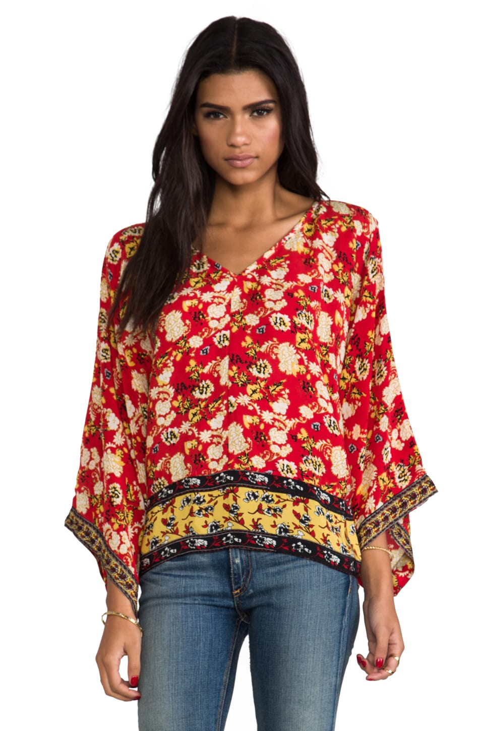 Tolani Skyler Blouse in Crimson