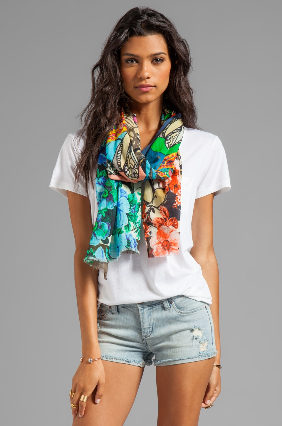 Tolani Scarf in Digital Parrot