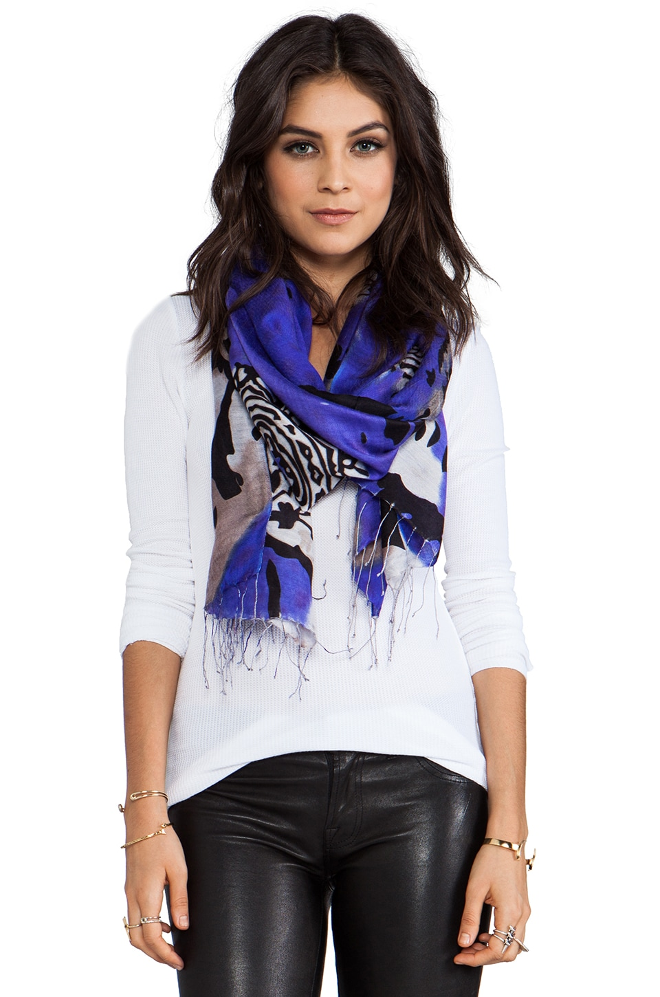 Tolani Ambi Scarf in Purple