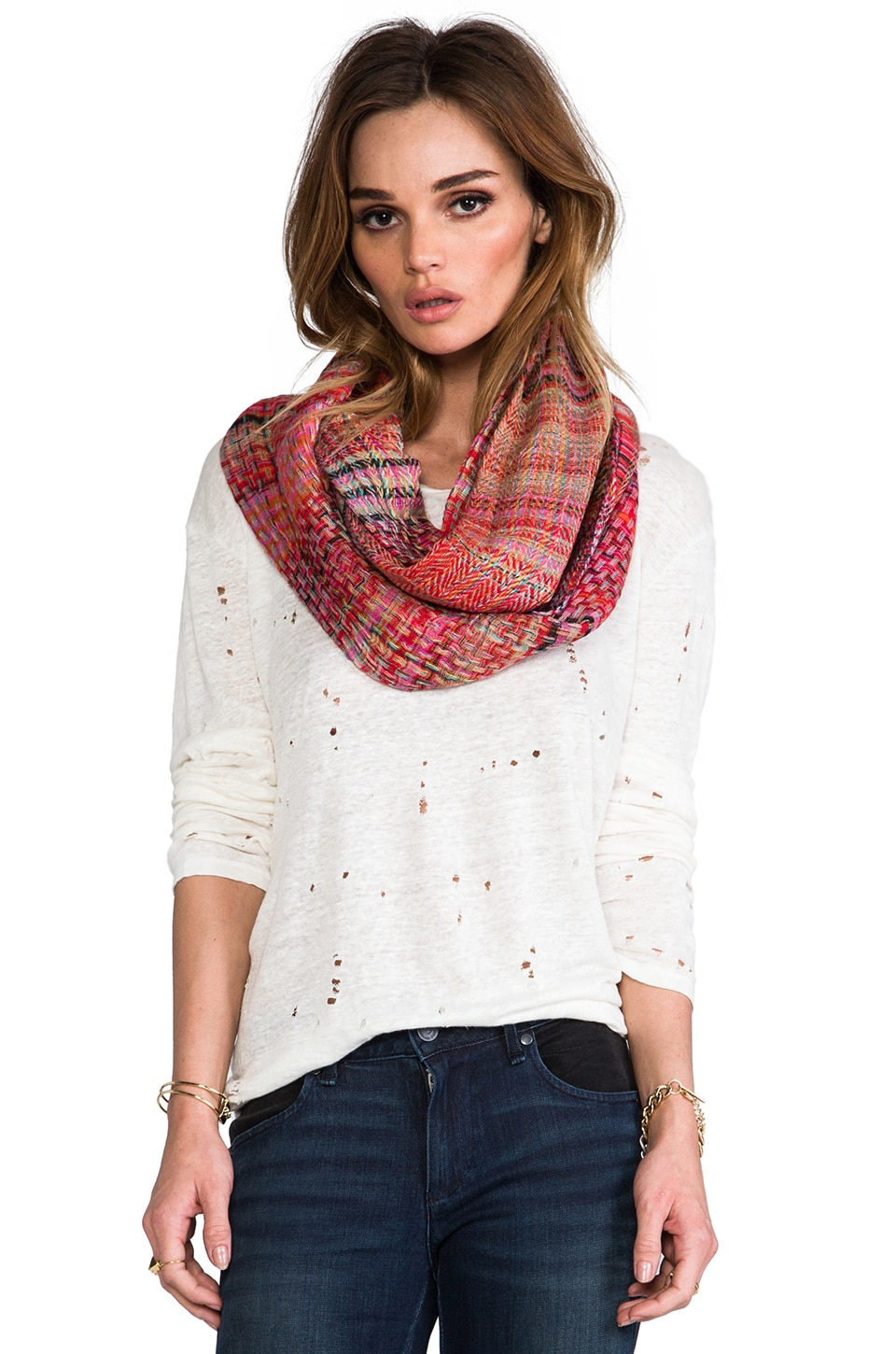 Tolani Infinity Scarf in Red