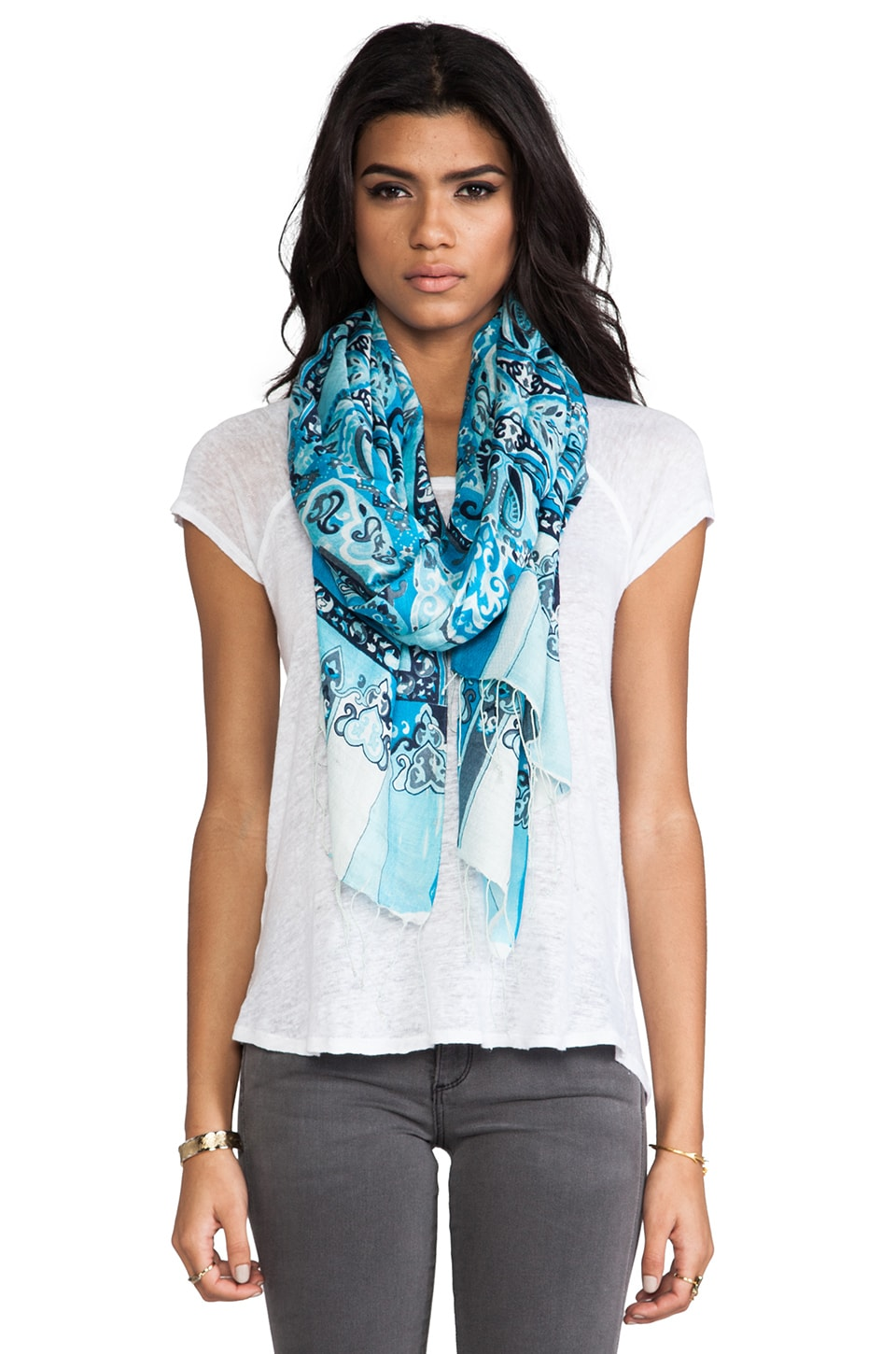 Tolani Mirage Scarf in Turquoise
