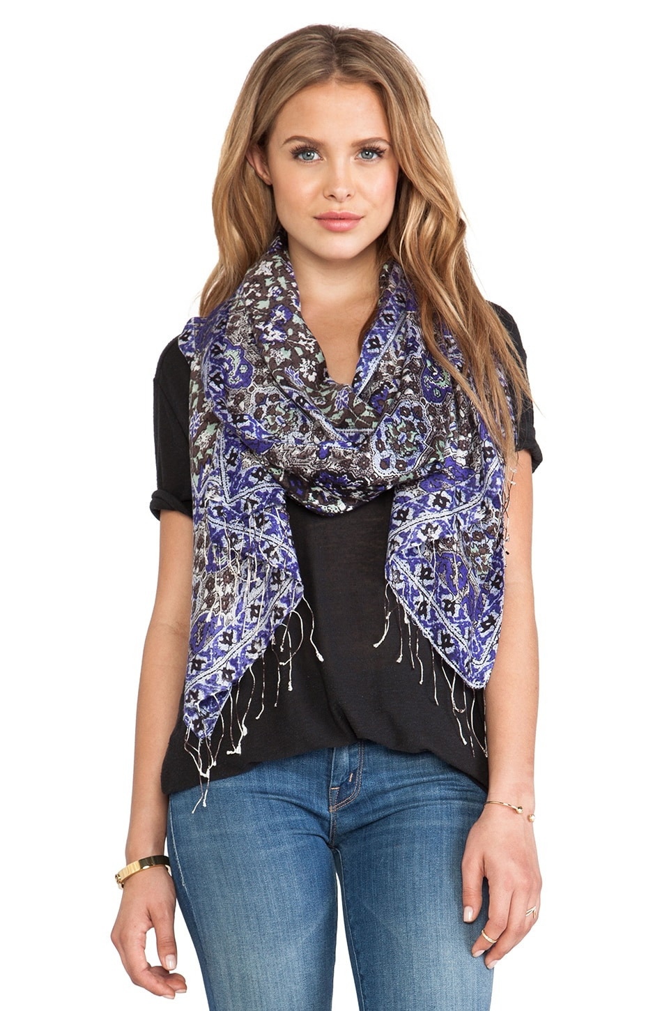 Tolani Emma Scarf in Grey