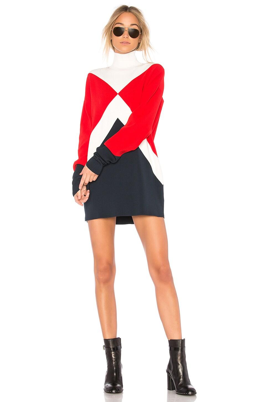 Tommy X Gigi Graphic Mock Neck Dress