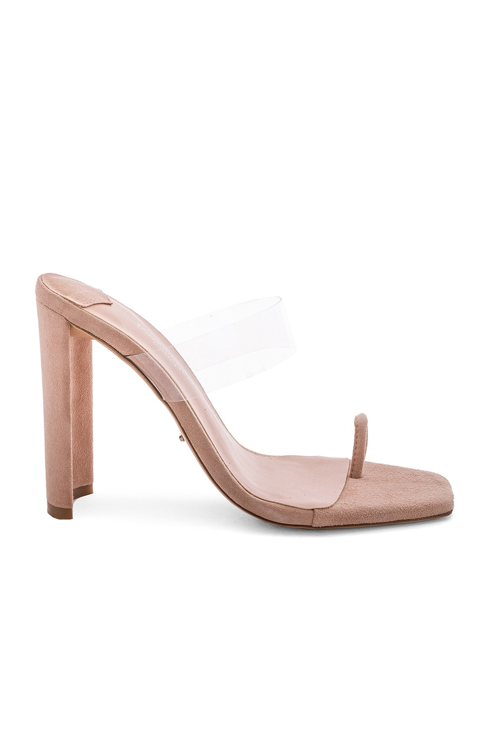 Tony Bianco X REVOLVE Sapphire Sandal in Blush Suede & Clear