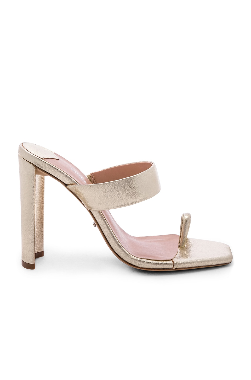 Tony Bianco x REVOLVE Sapphire Heel in Gold Nappa Metallic