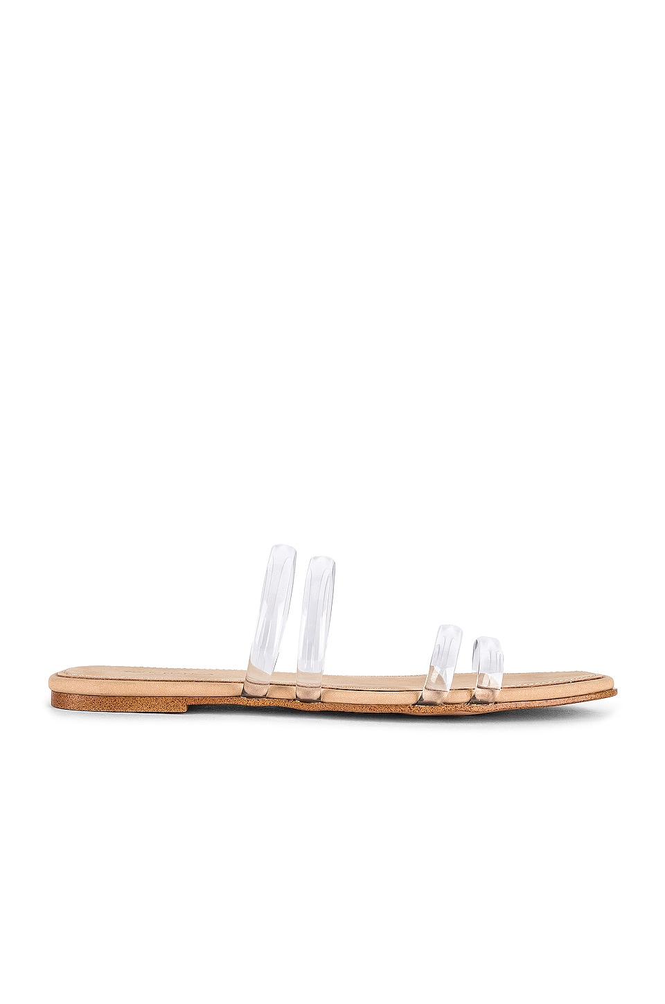 Tony Bianco Posch Slide in Clear Vinalite & White