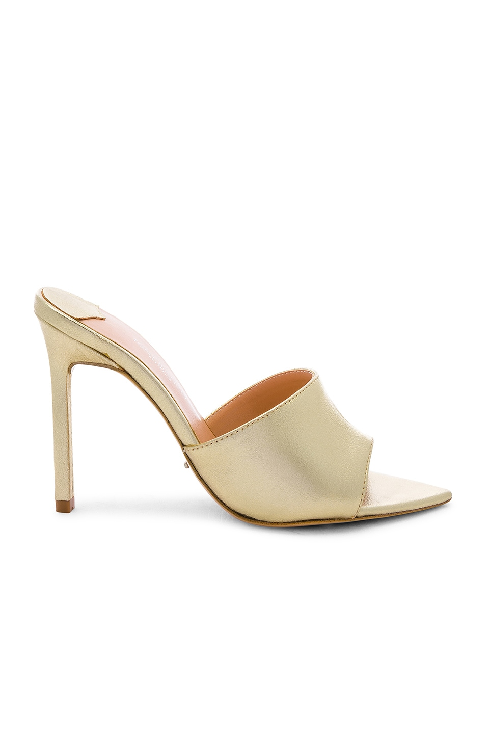 Tony Bianco Marley Mule in Gold Nappa Metallic