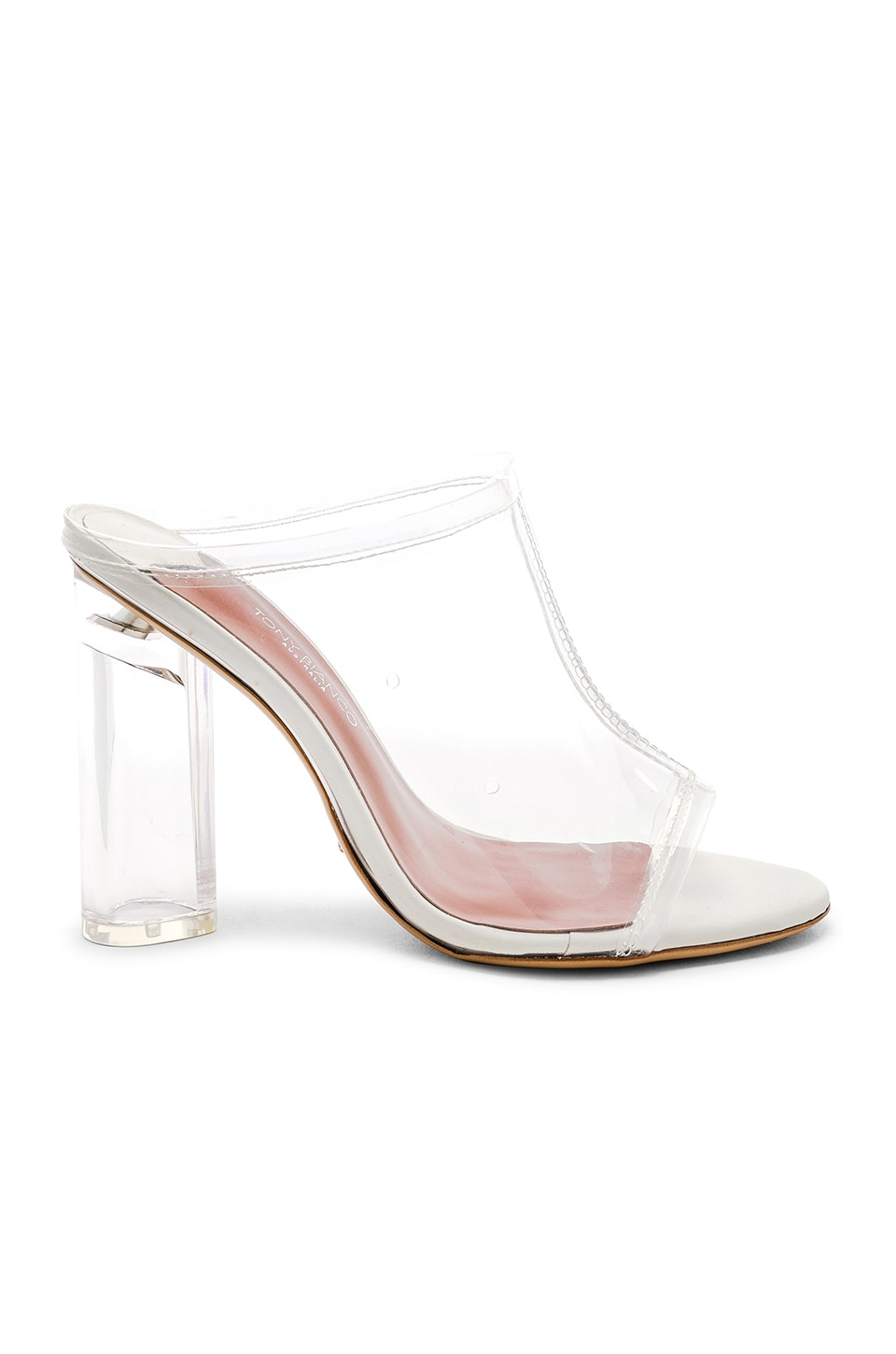 Tony Bianco Talise Mule in Clear Vynalite