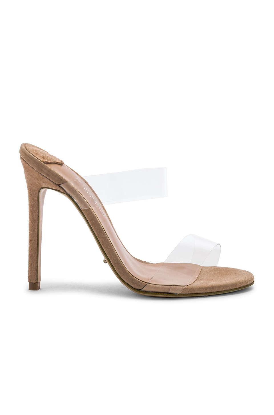 Tony Bianco Kade Heel in Clear Vynalite & Blush Kid Suede